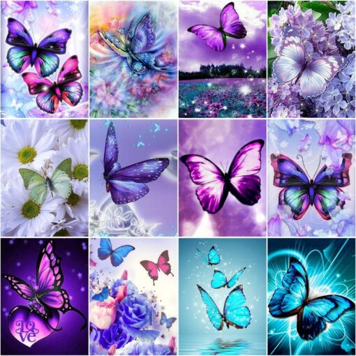 Butterfly Paint By Numbers   My Art Hour