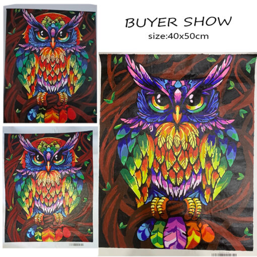 Owl Paint By Numbers | My Art Hour