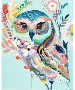 Owl Paint by Number l My Art Hour