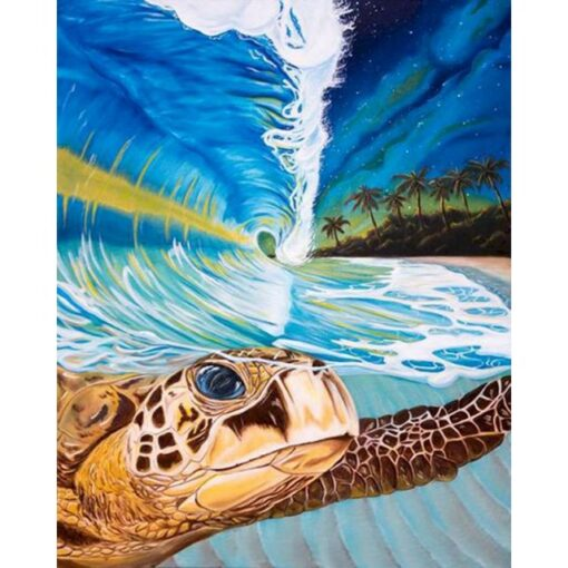 sea turtle paint by numbers   My Art Hour