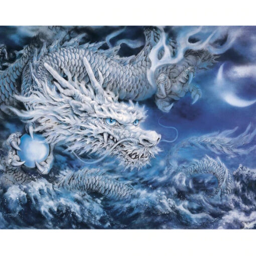 White Dragon Paint By Numbers   My Art Hour