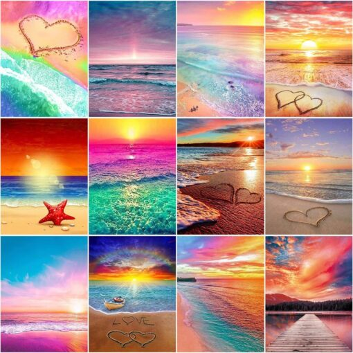 Colorful Beach Paint By Numbers   My Art Hour