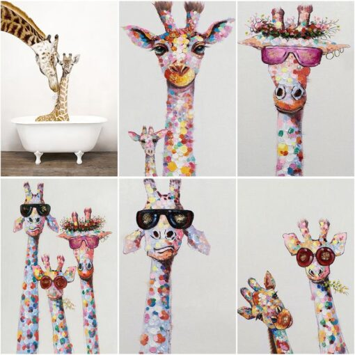 Abstract Giraffe Paint By Numbers | My Art Hour