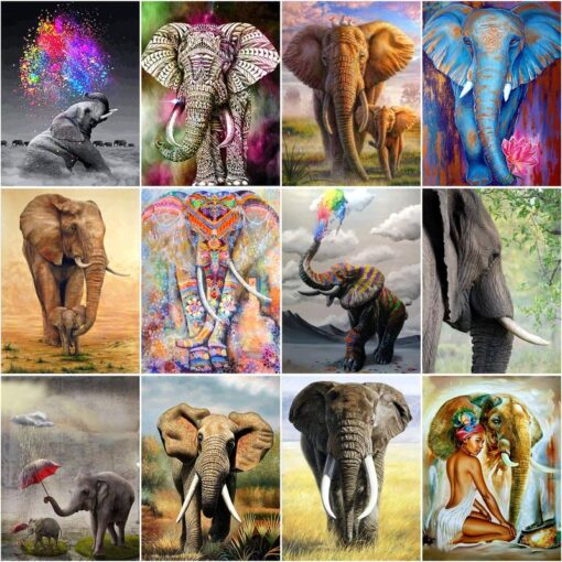Elephant Paint By Numbers   My Art Hour