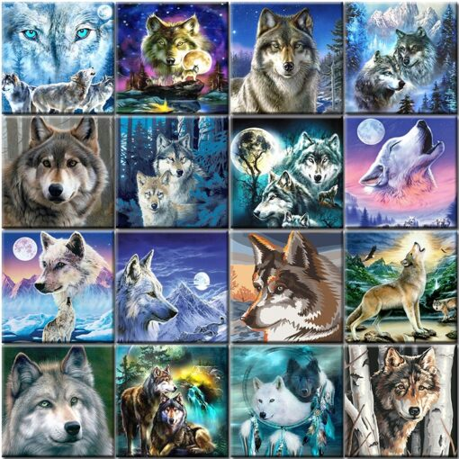 Wolf Paint By Numbers   My Art Hour