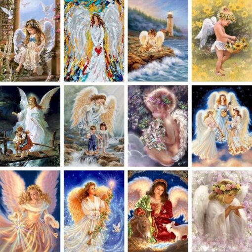 Angel Paint By Numbers | My Art Hour