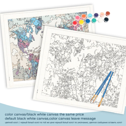 Map Paint By Numbers   My Art Hour