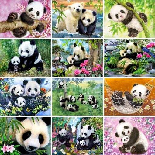 Panda Paint By Numbers   My Art Hour