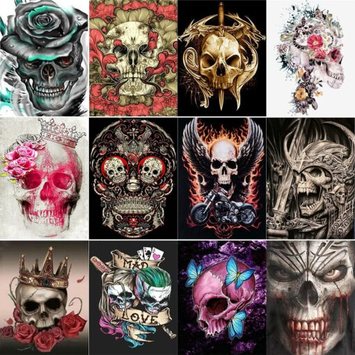 Skull Paint By Numbers | My Art Hour