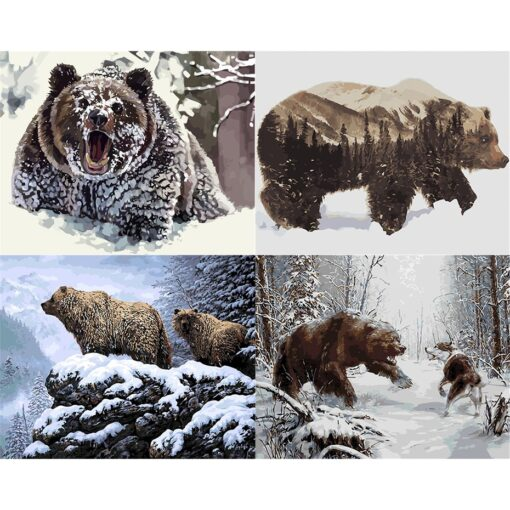 Bear Paint By Numbers   My Art Hour