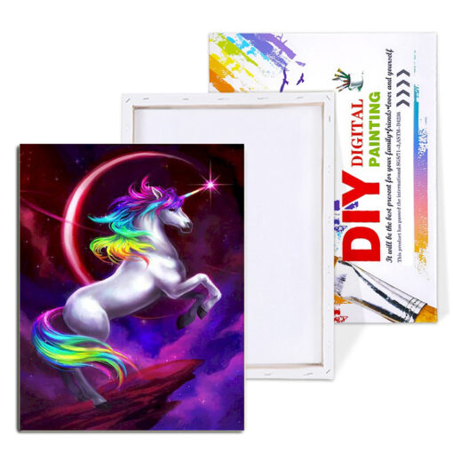 Unicorn Paint By Numbers   My Art Hour