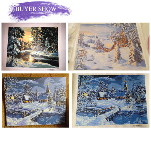 Four Seasons Scenery Paint By Numbers | My Art Hour