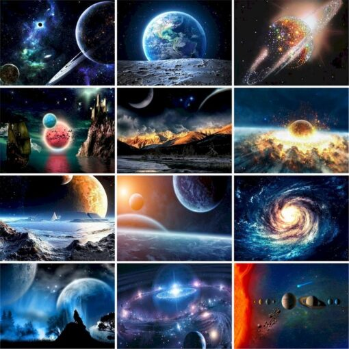 Planets Paint By Numbers | My Art Hour