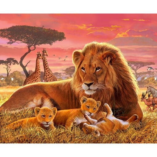 Lion And Cub Paint By Numbers | My Art Hour