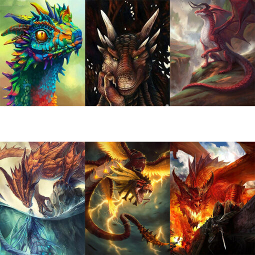 Dragon Paint By Numbers | My Art Hour