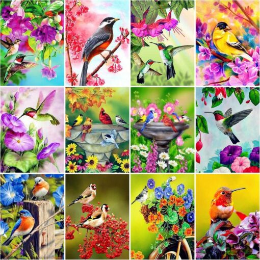 Birds And Flowers Paint By Numbers   My Art Hour