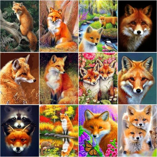 Fox Paint By Numbers | My Art Hour