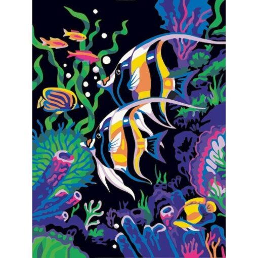 Fish Paint By Numbers   My Art Hour