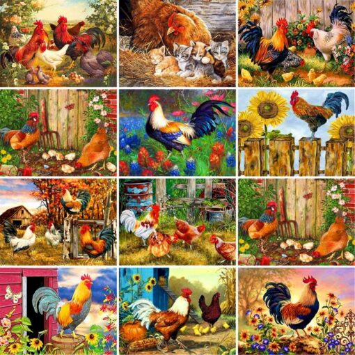 Rooster Paint By Numbers | My Art Hour