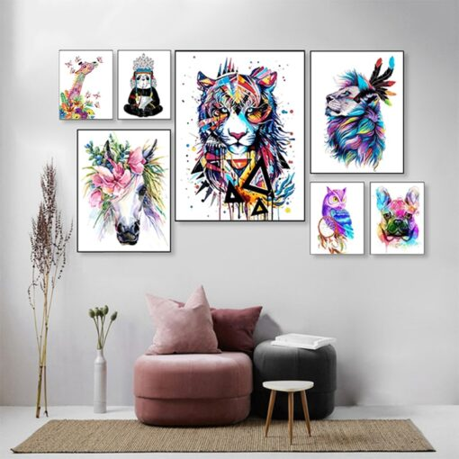 Abstract Animals Paint By Numbers   My Art Hour