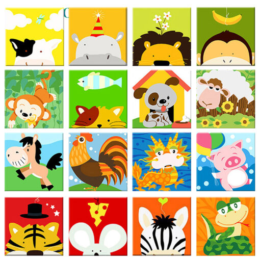Animals For Kids Paint By Numbers | My Art Hour