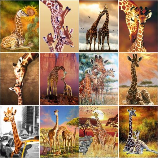 Giraffe Paint By Numbers   My Art Hour